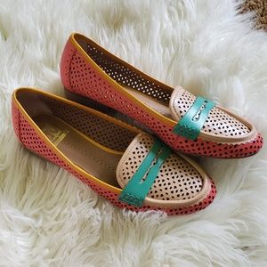 DV Dolce Vita Multicolor Perforated Leather Loafer